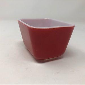 Pyrex small refrigerator rectangular dish red 501